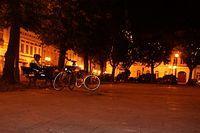 Nocny rynek w Oświęcimiu