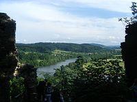 Na ruinach zamku Sobień i widok z góry