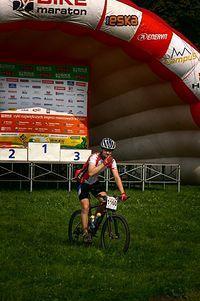 Eska Bike Maraton - Kraków - Przemek szykuje się wjazdu na podium (2010.08.01)