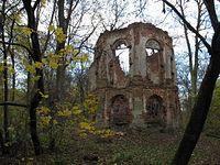 Morysin - ruiny pałacyku Aleksandry Potockiej