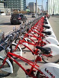 Miejska wypożyczalnie rowerów w barcelonie
