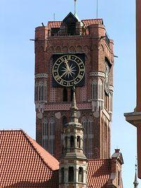 Wieża zegarowa ratusza w Toruniu