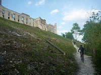 Podjazd na zamek w Janowcu