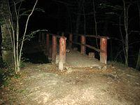Las Kabacki - mostek nad stawami