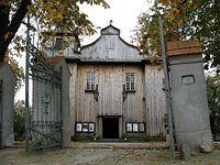 Mariańskie Porzecze - kościół MB Bolesnej, niedaleko PK 14