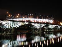 Most Poniatowskiego i Stadion Narodowy