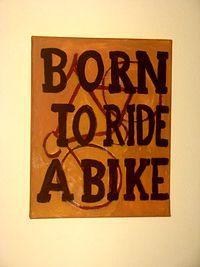 """Akwarela """"Born to ride a bike"""""""