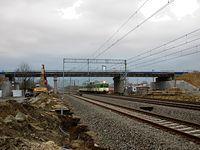 Chotomów - budowa wiaduktu