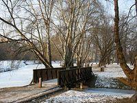 Park Sielecki - mostek nad kanałkiem