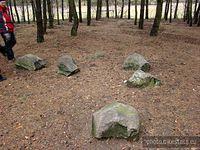 Kamienny krąg , no może nie krąg ale kamienie są.