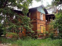 Opuszczony drewniak w Radości (2)