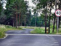 Droga z miejscowości Dobra do miejscowości Buk.