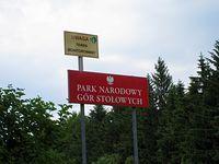 Koniec wspinaczki a poczatek Parku Narodowego Gór Stołowych