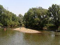 Rzeka Opava w  Háj ve Slezsku
