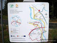 Mapka szlaków w okolicach Puław
