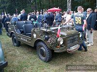 Rocznica bitwy pod Ewiną. Samochód wojskowy auto union.