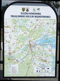 Mapa ścieżki rowerowej