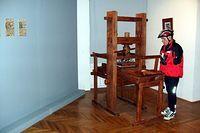 Rekonstrukcja prasy drukarskiej Johannesa Gutenberga  w muzeum