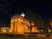 Sandomierz – ratusz, studnia i figura