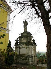 Sandomierz - Figura św. Ignacego Loyoli