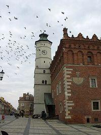 Sandomierz – wieża i dwa zegary