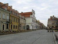 Sandomierz – kamieniczki na Rynku, pierzeja zachodnia