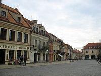 Sandomierz – kamieniczki na Rynku, pierzeja wschodnia