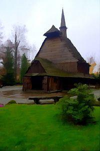 Kościół św Michała w parku Kościuszki w Katowicach - zdjęcie poniedziałkowe