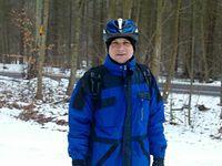 Sobotnie rowerowanie. Uczestnik rowerówki - Jarek - jarhaw. 16-02-2013.