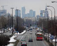 Widok z kładki nad ul. Sobieskiego