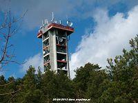 20-04-2013. Wieża Stacji Linii Radiowych w Trzcińsku.