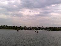 Hlucin, jezioro z ośrodka wypoczynkowego