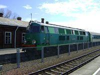 SU45-161 z pociągiem TLK Hańcza wjeżdża na stację w Trakiszkach
