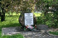 Początek trasy. Pomnik poległych żołnierzy 9 Pułku Piechoty 3 Dywizji I Armii Wojska Polskiego, pl. Słoneczny