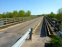 Drewniany most na Bzurze. Kompina