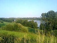 Widok na Jezioro Wierzchucińskie Duże