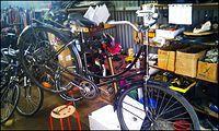 Rower Ewy w trakcie demontażu