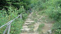 Zaczynamy podejście i od razu są schody