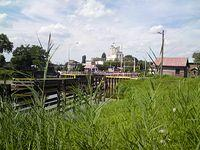 Śluza wejścia na kanale Odry w Brzegu