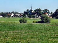 Widok z Grambow, niemieckiej miejscowości bliskiej granicy pod Lubieszynem