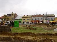 Pilzno - Rynek w trakcie przebudowy