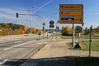 Granica w Lubieszynie. Od strony Niemiec