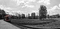 Pętla tramwajowa w Katowicach Brynowie - gdy wszystko się jeszcze zieleniło