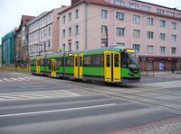 Nowy-stary tramwaj z Augsburga na elbląskich torach