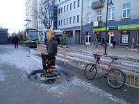 Nie ma to jak ogrzać rower przy koksowniku :-)