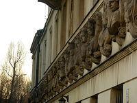 Dekoracja Domu pod Królami, czyli Pałacu Daniłowiczów, czyli budynku Biblioteki Załuskich, czyli siedziba ZAiKS-u