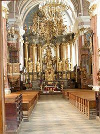 Ołtarz kościoła w Mstowie