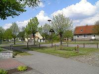Centrum wsi Pampow - 26 kwietnia 14 r