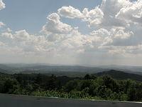 Bieszczady za mgłą, widok z Gór Słonnych