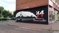 Mural w DG ku pamięci Powstania